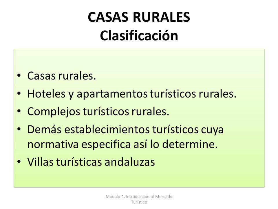 CASAS RURALES Clasificación