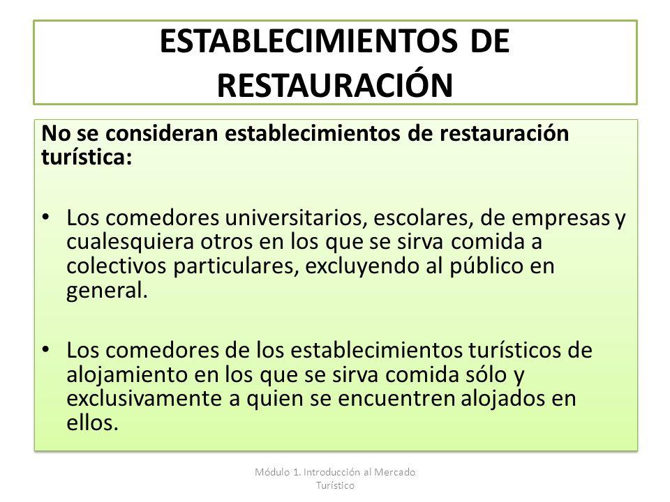ESTABLECIMIENTOS DE RESTAURACIÓN