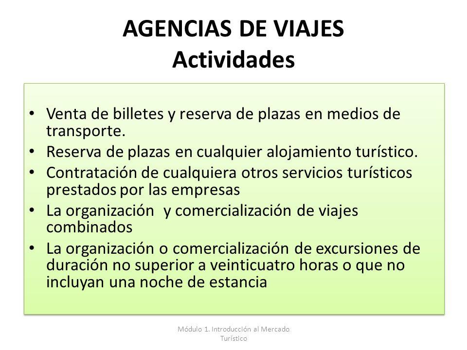 AGENCIAS DE VIAJES Actividades