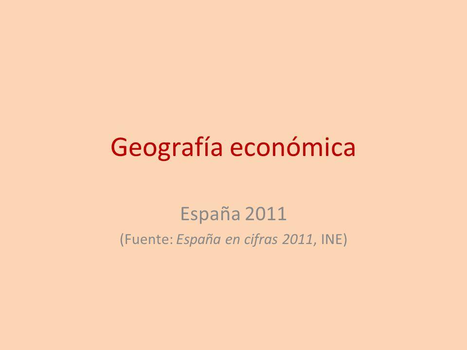 España 2011 (Fuente: España en cifras 2011, INE)