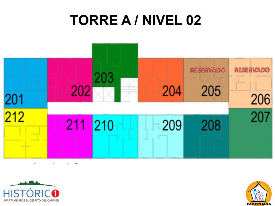 TORRE A / NIVEL 02 RESERVADO RESERVADO