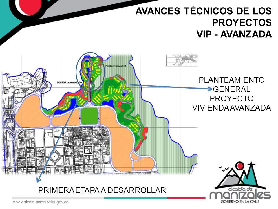 AVANCES TÉCNICOS DE LOS PROYECTOS VIP - AVANZADA