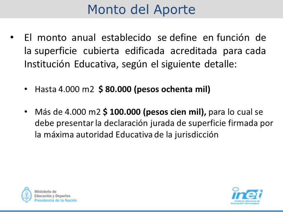 Aporte econ mico directo a instituciones educativas ppt descargar - Definition de superficie ...