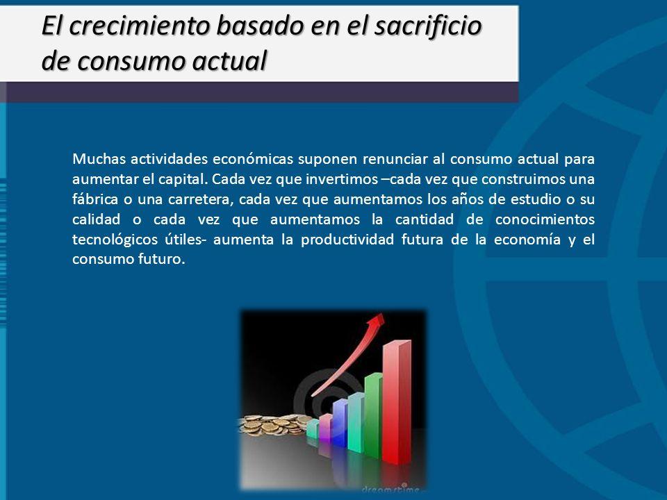 El crecimiento basado en el sacrificio de consumo actual