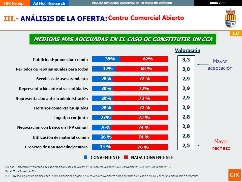 MEDIDAS MAS ADECUADAS EN EL CASO DE CONSTITUTIR UN CCA