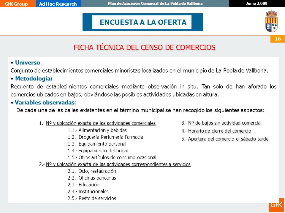FICHA TÉCNICA DEL CENSO DE COMERCIOS