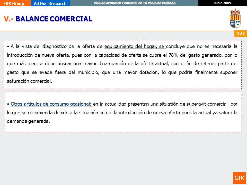 V.- BALANCE COMERCIAL
