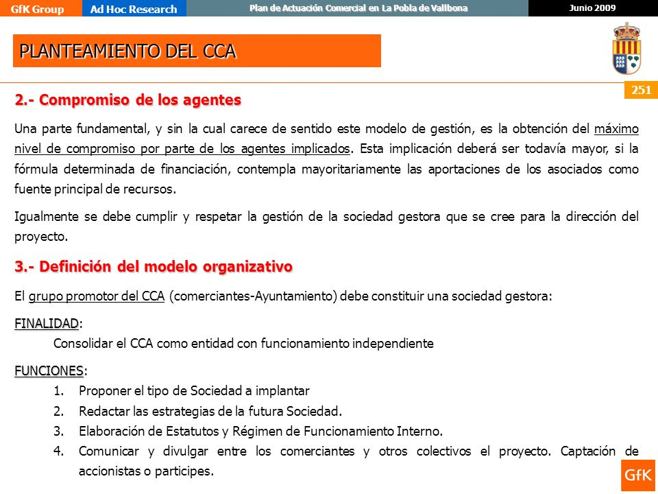 PLANTEAMIENTO DEL CCA 2.- Compromiso de los agentes