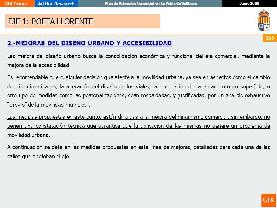 EJE 1: POETA LLORENTE 2.-MEJORAS DEL DISEÑO URBANO Y ACCESIBILIDAD