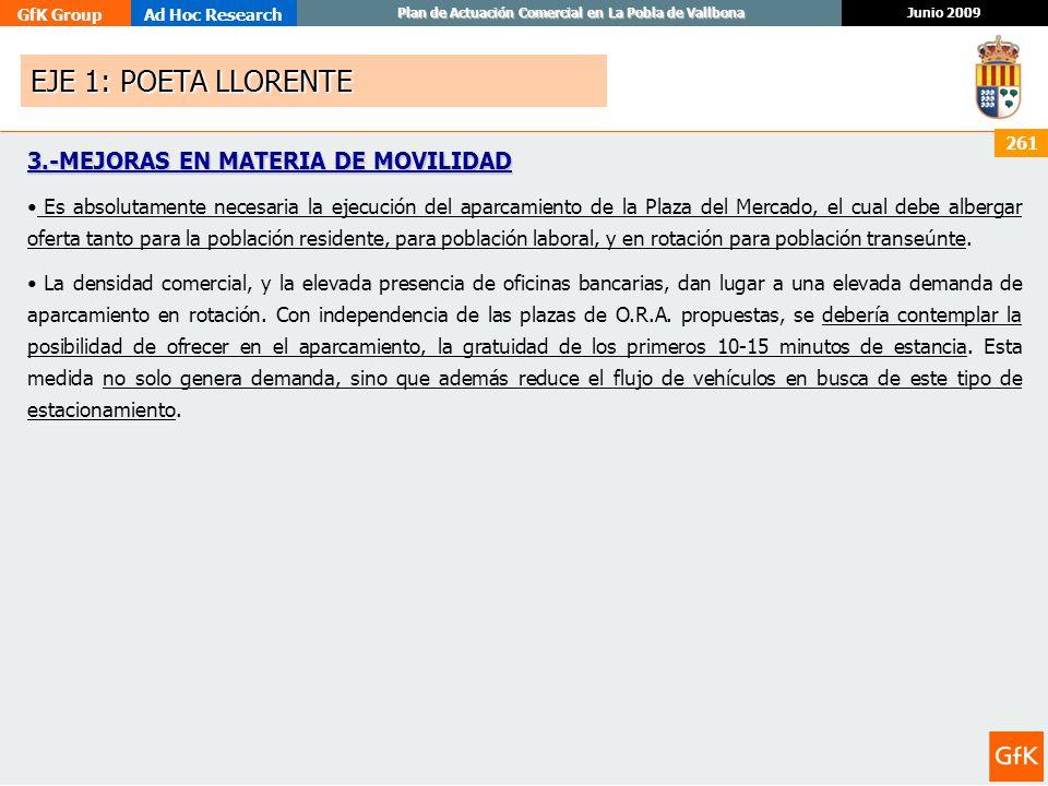 EJE 1: POETA LLORENTE 3.-MEJORAS EN MATERIA DE MOVILIDAD