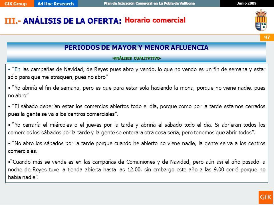 PERIODOS DE MAYOR Y MENOR AFLUENCIA -ANÁLISIS CUALITATIVO-