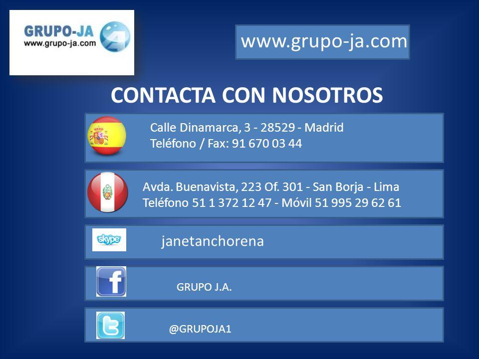 CONTACTA CON NOSOTROS www.grupo-ja.com janetanchorena