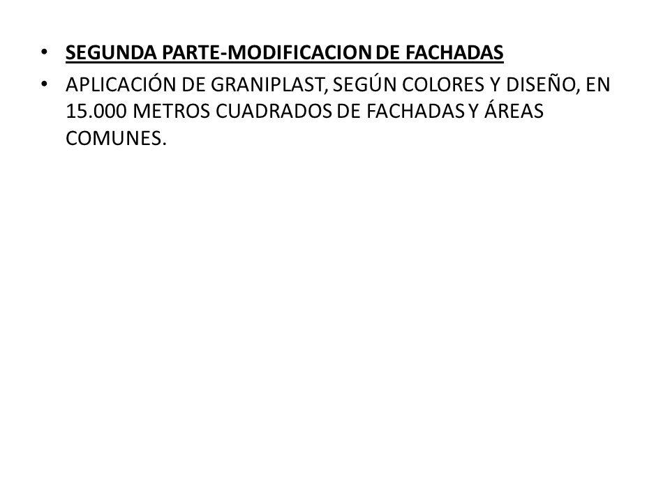 SEGUNDA PARTE-MODIFICACION DE FACHADAS