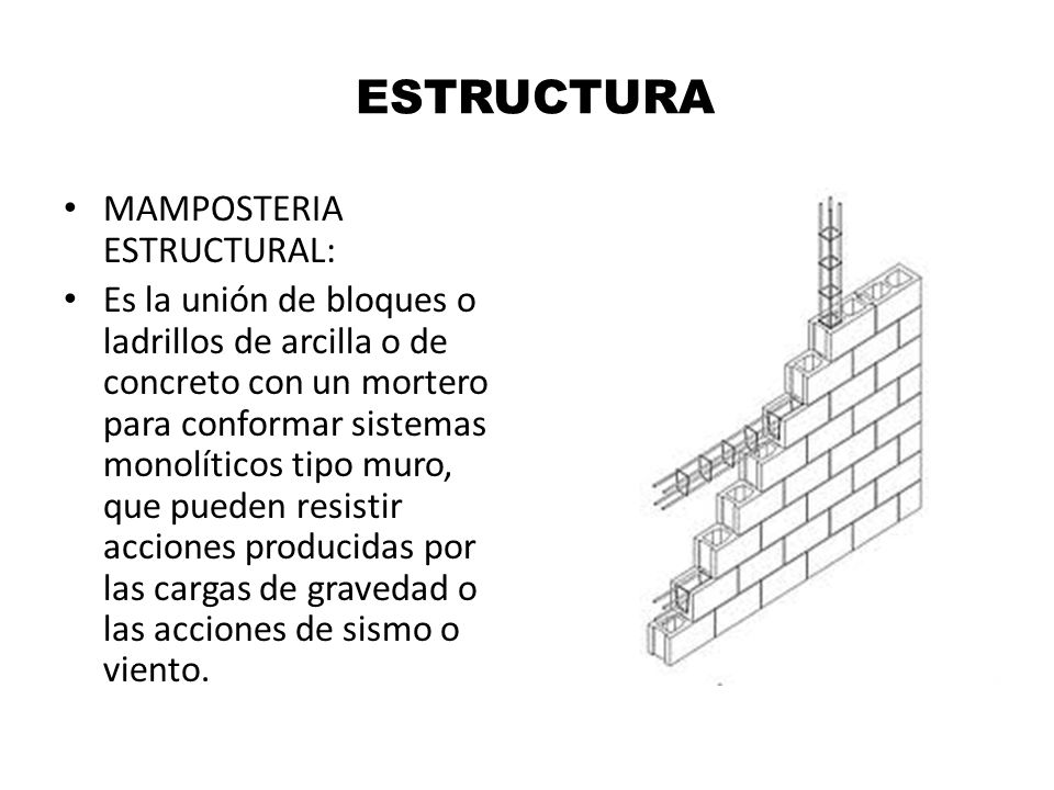 ESTRUCTURA MAMPOSTERIA ESTRUCTURAL: