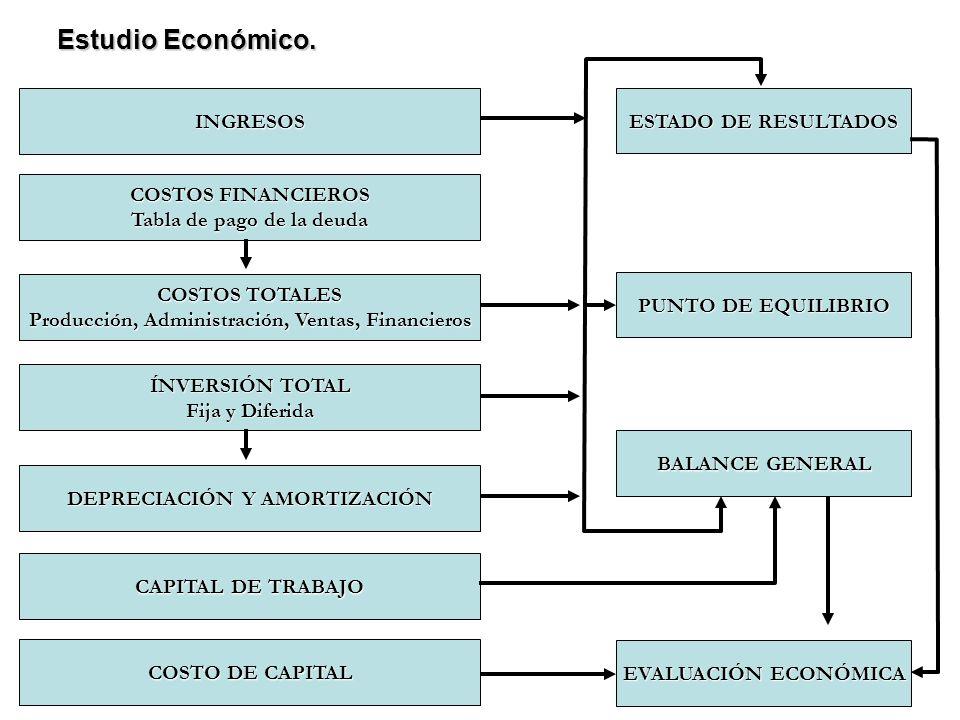 Estudio Económico. INGRESOS ESTADO DE RESULTADOS COSTOS FINANCIEROS