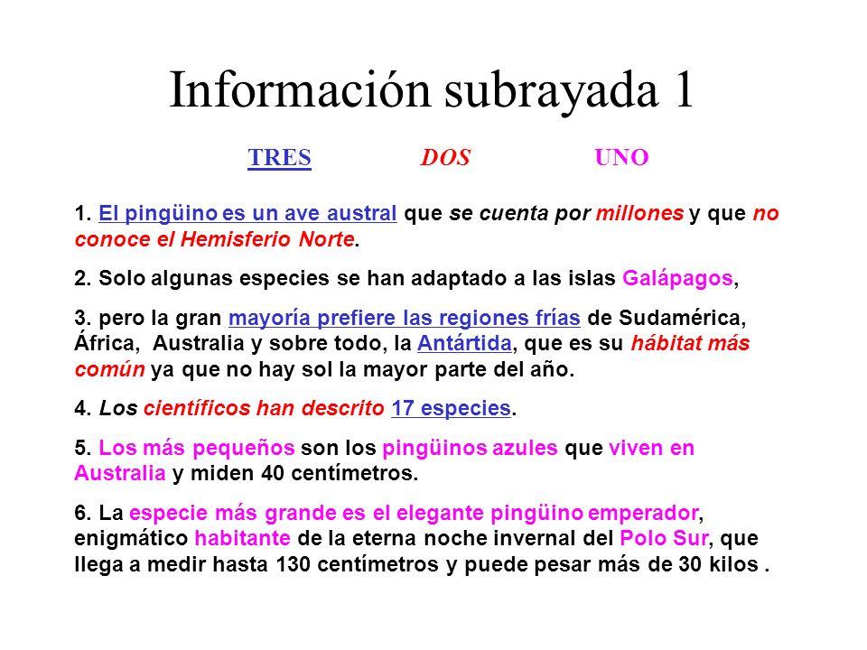 Información subrayada 1
