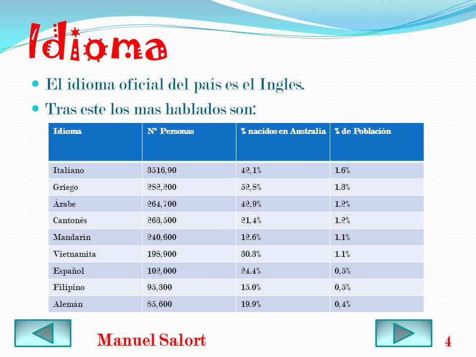 Idioma Manuel Salort El idioma oficial del país es el Ingles.