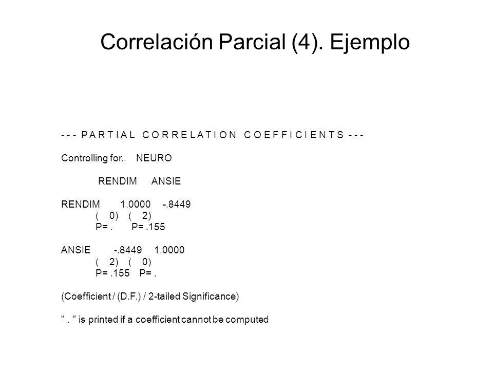 Correlación Parcial (4). Ejemplo