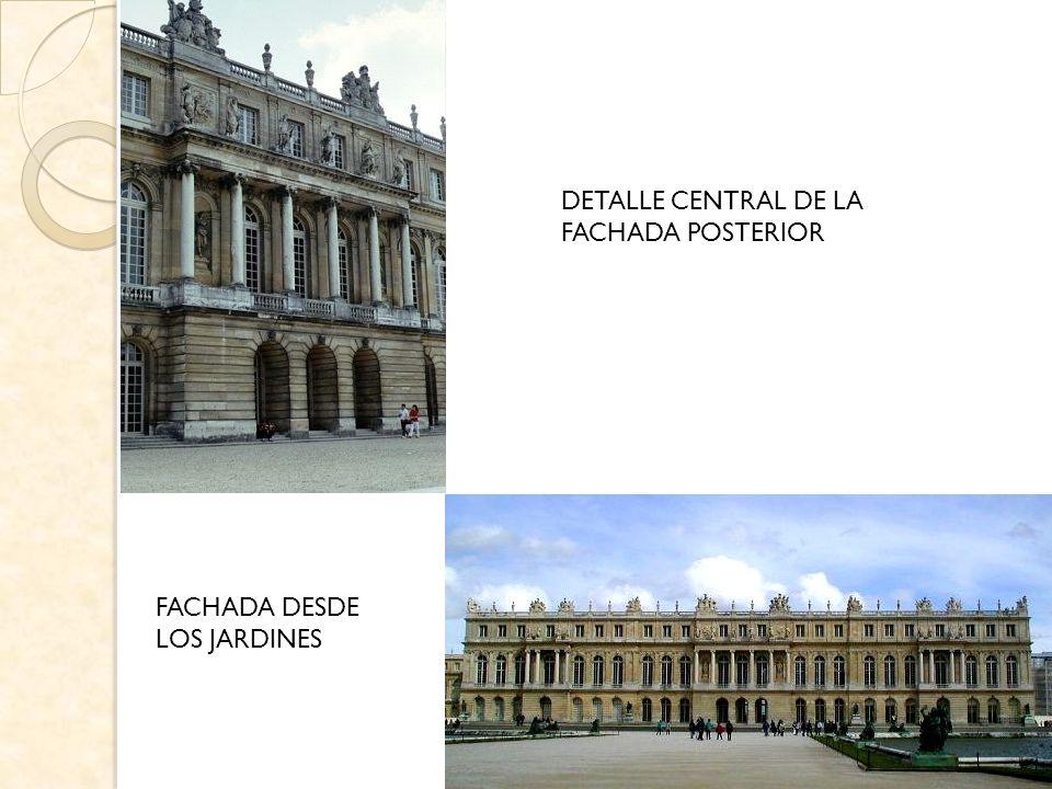 DETALLE CENTRAL DE LA FACHADA POSTERIOR