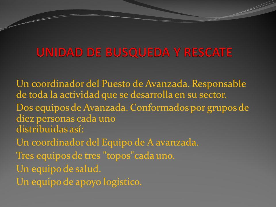 UNIDAD DE BUSQUEDA Y RESCATE