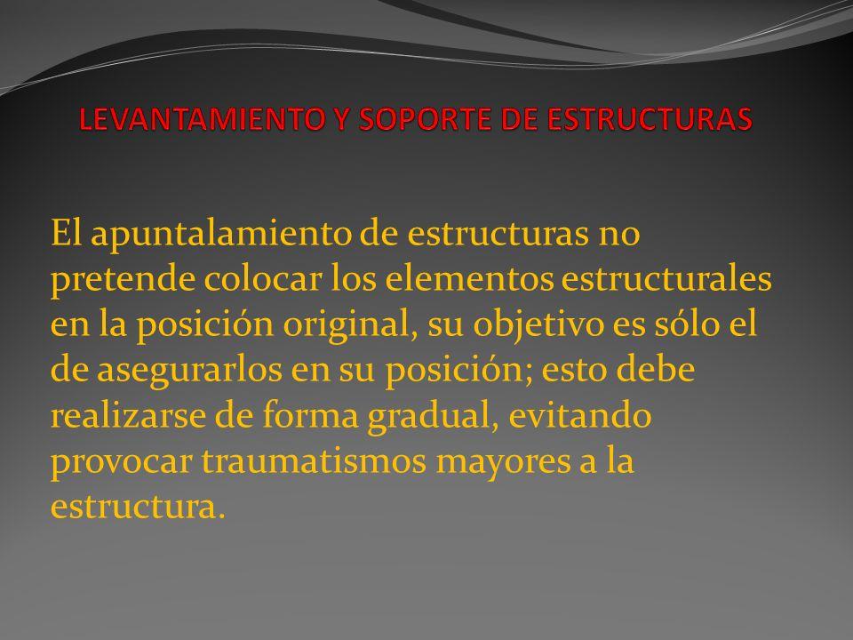 LEVANTAMIENTO Y SOPORTE DE ESTRUCTURAS