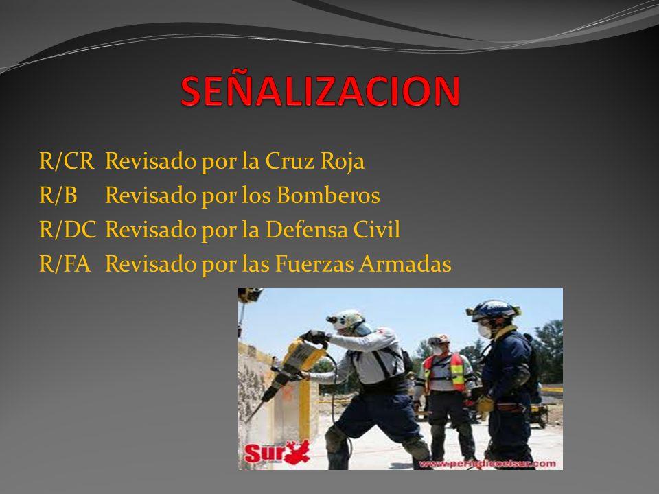 SEÑALIZACION R/CR Revisado por la Cruz Roja