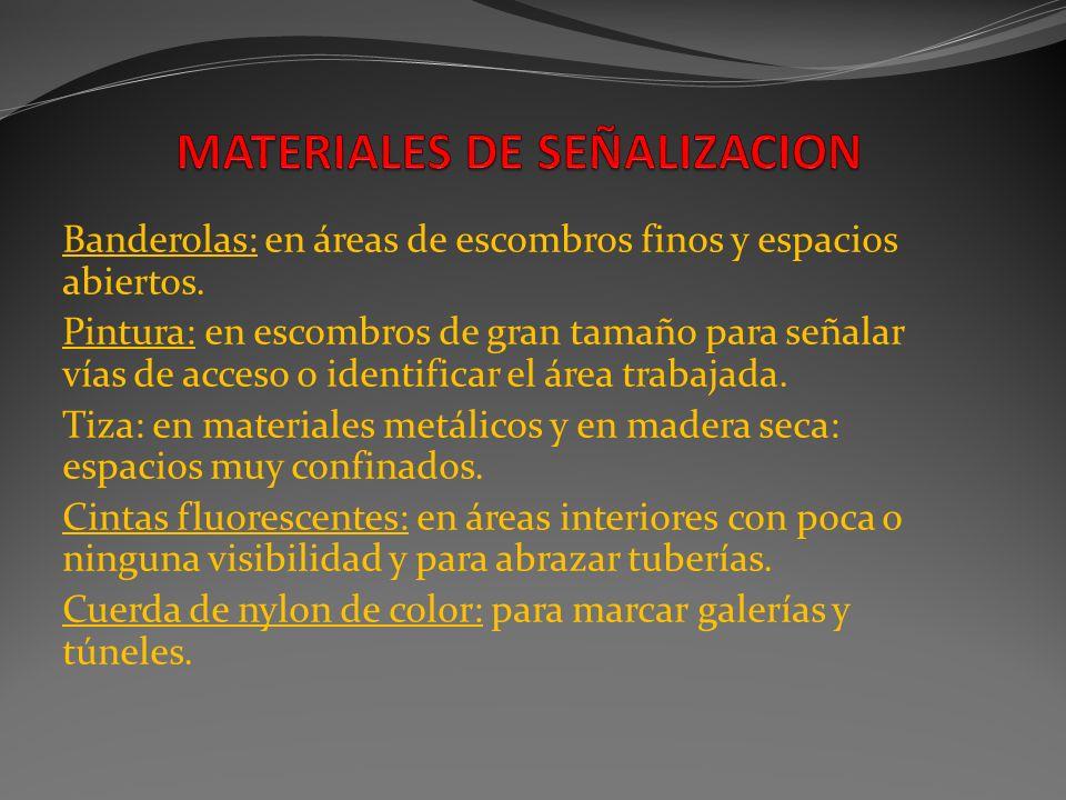 MATERIALES DE SEÑALIZACION