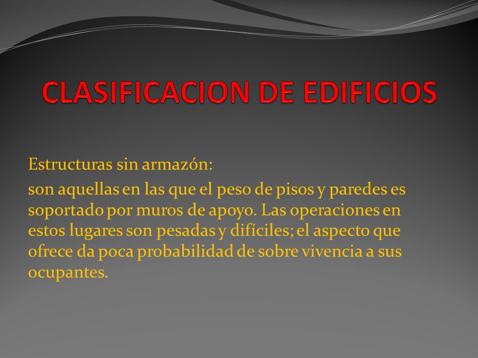 CLASIFICACION DE EDIFICIOS