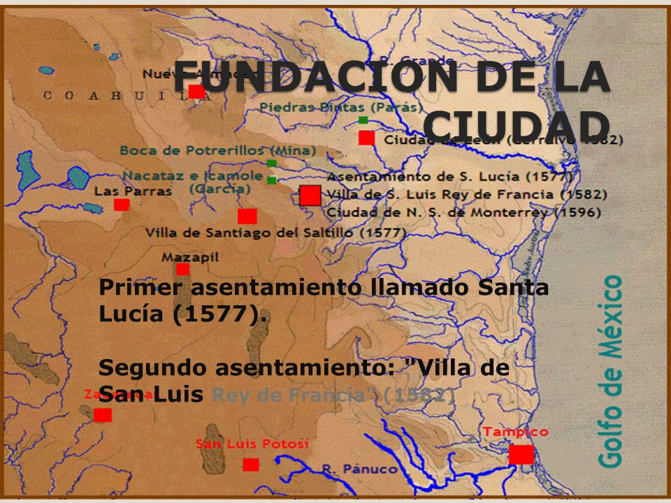 FUNDACION DE LA CIUDAD Primer asentamiento llamado Santa Lucía (1577).