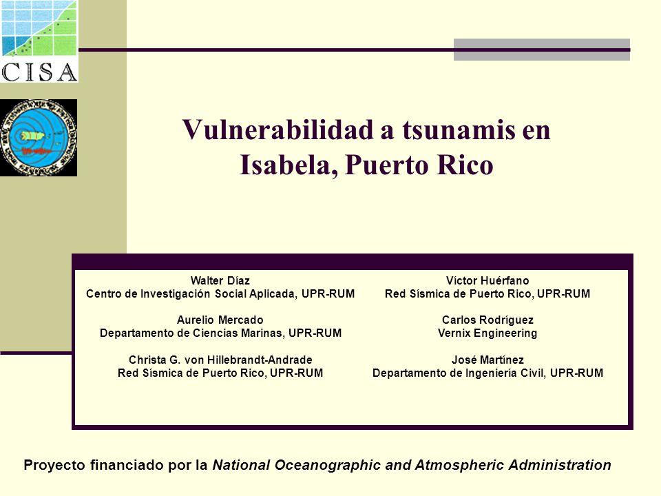 Vulnerabilidad a tsunamis en Isabela, Puerto Rico