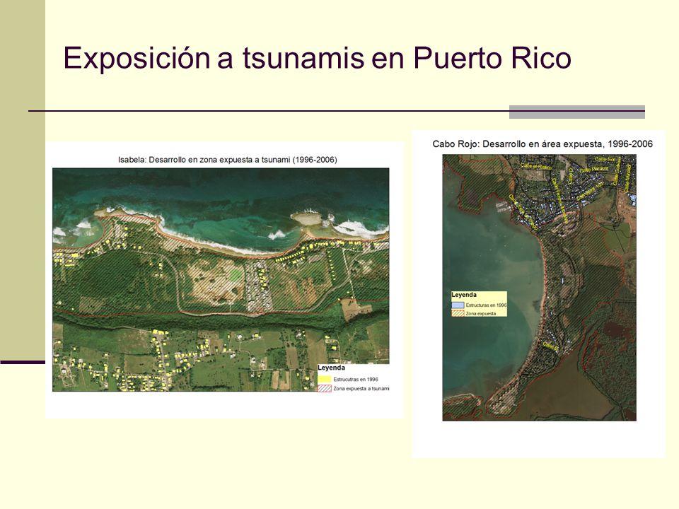 Exposición a tsunamis en Puerto Rico