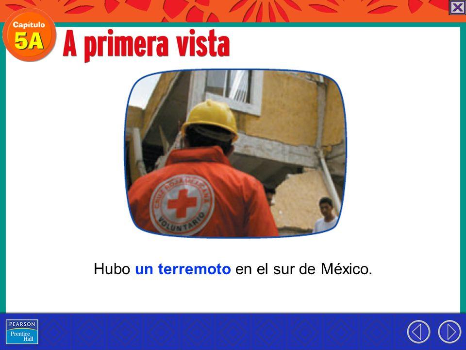 Hubo un terremoto en el sur de México.