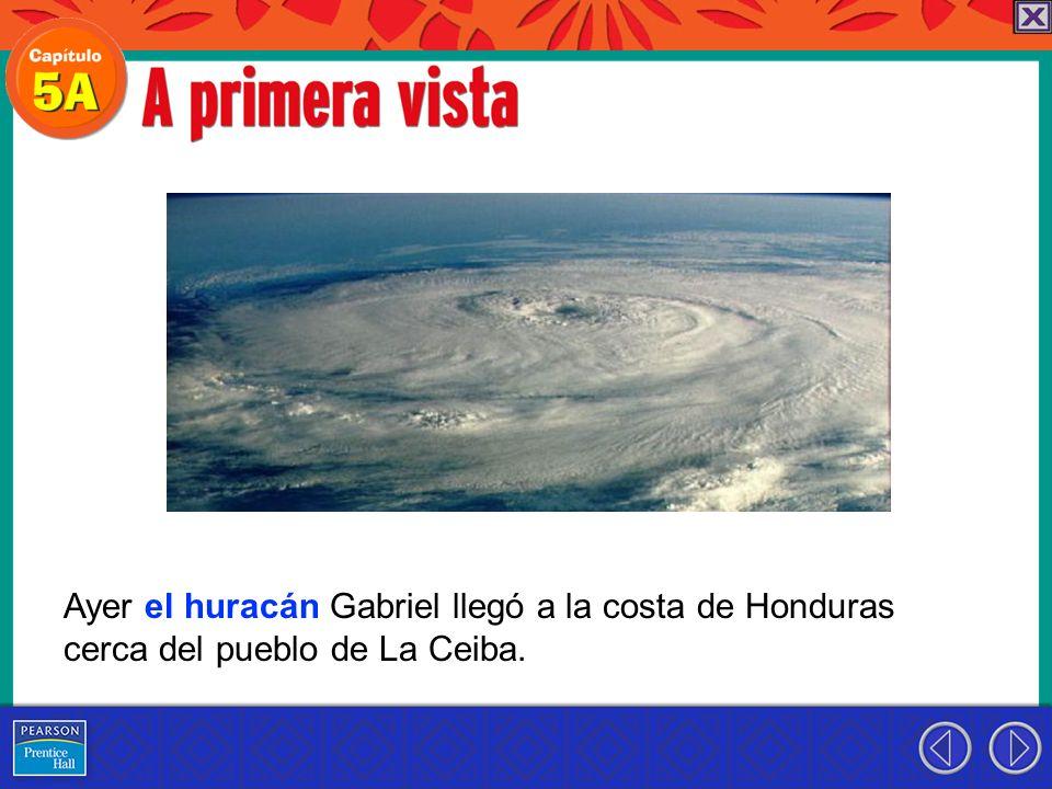 Ayer el huracán Gabriel llegó a la costa de Honduras