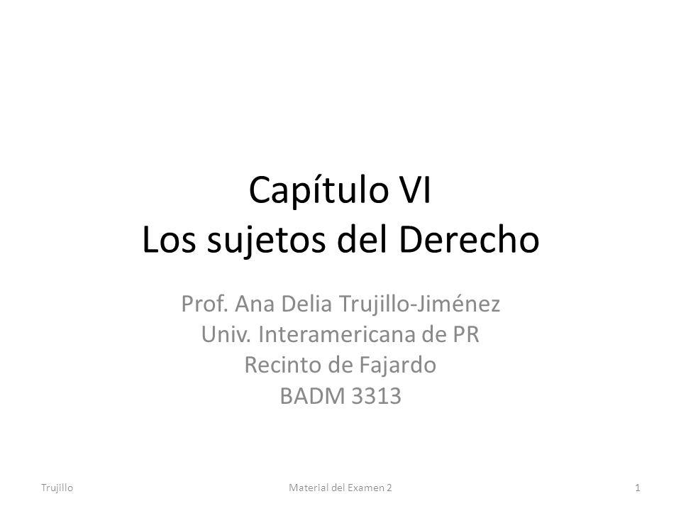 Capítulo VI Los sujetos del Derecho