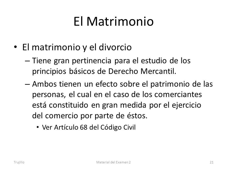 El Matrimonio El matrimonio y el divorcio