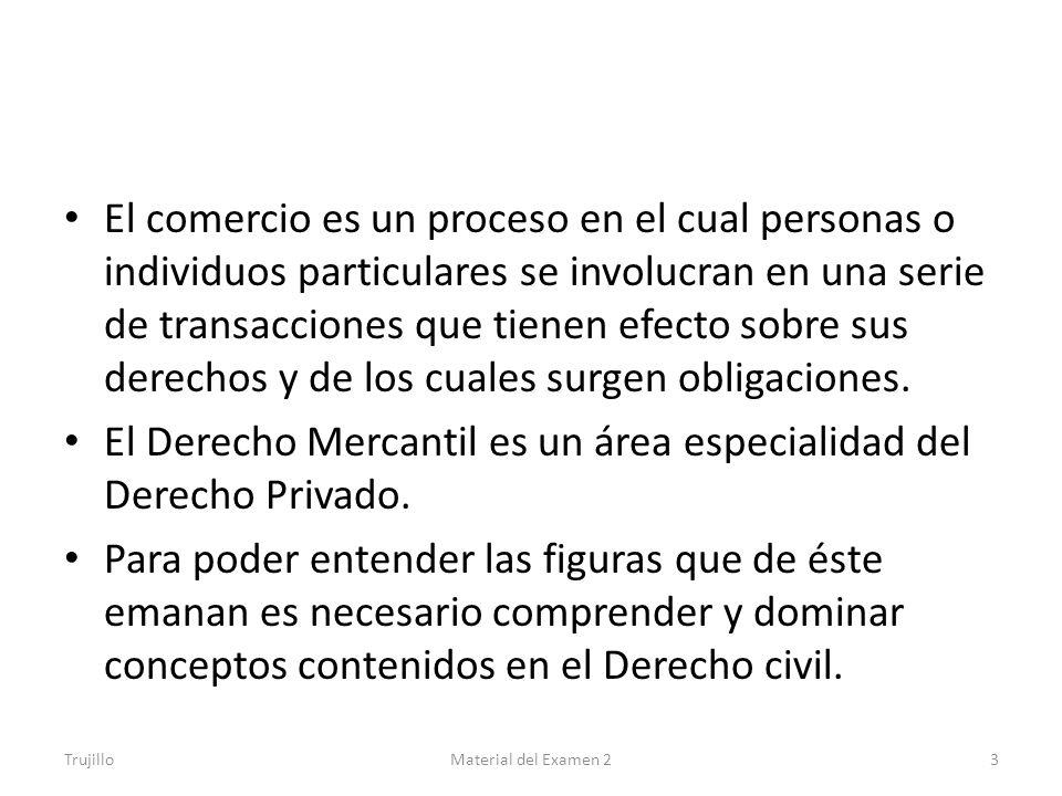 El Derecho Mercantil es un área especialidad del Derecho Privado.