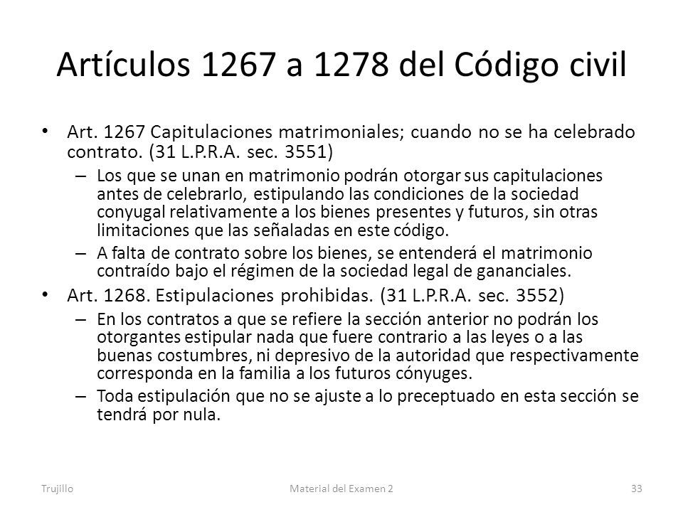 Artículos 1267 a 1278 del Código civil