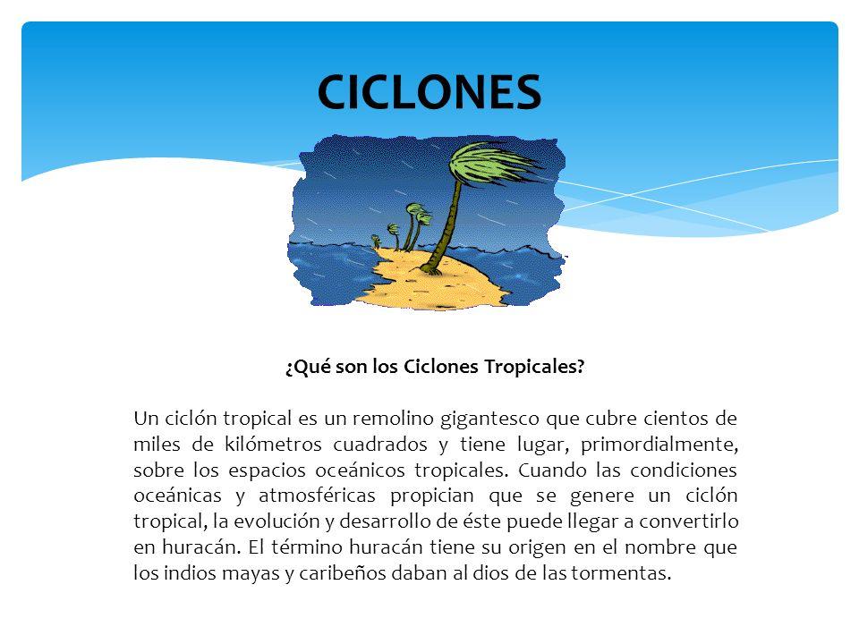 ¿Qué son los Ciclones Tropicales