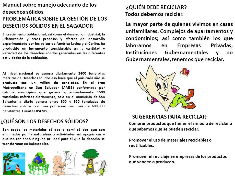 Manual sobre manejo adecuado de los desechos sólidos