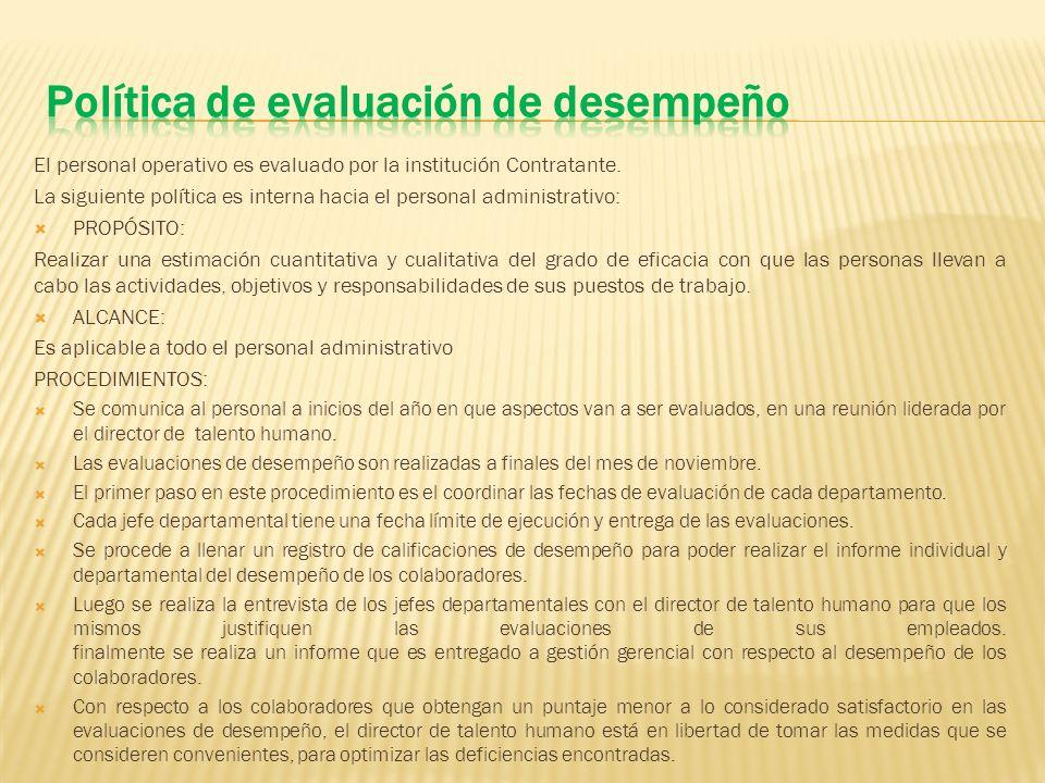 Política de evaluación de desempeño