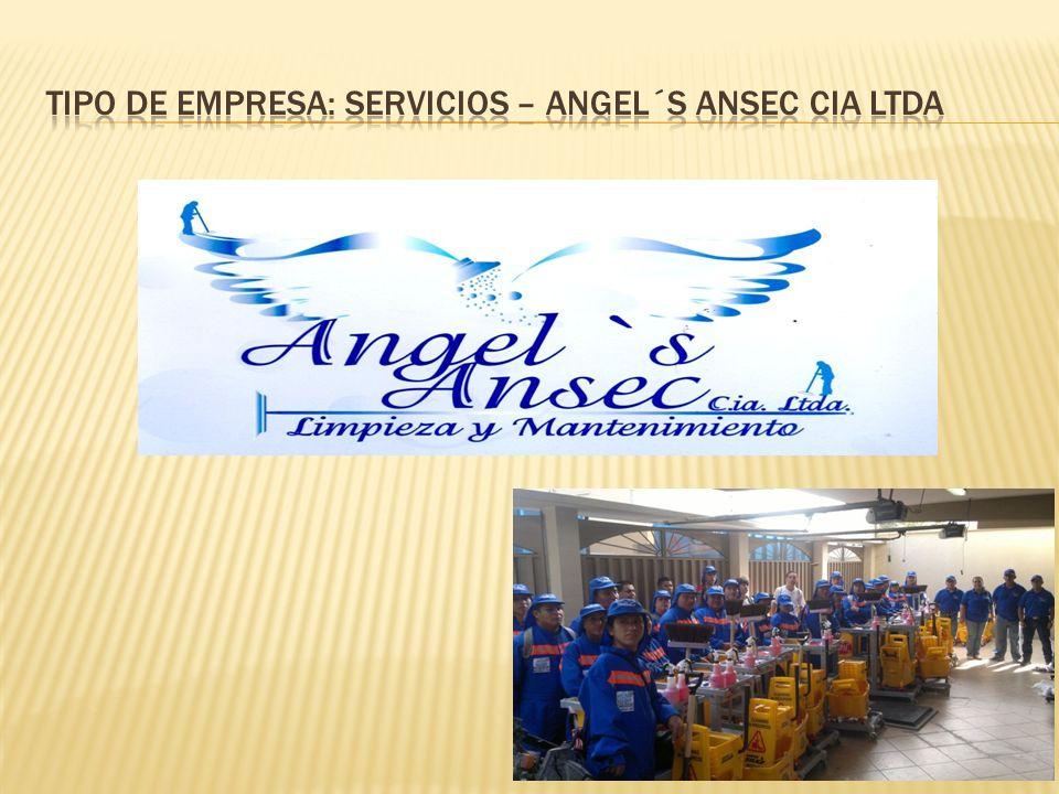Tipo de Empresa: Servicios – ANGEL´S ANSEC CIA LTDA