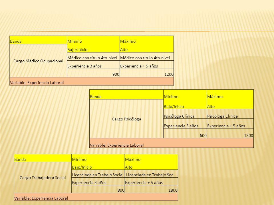 Cargo Médico Ocupacional Bajo/Inicio Alto Médico con título 4to nivel