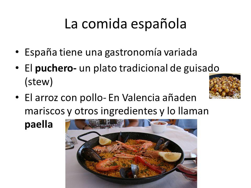 La comida española España tiene una gastronomía variada