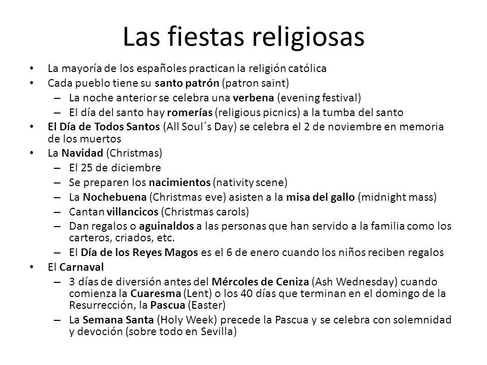 Las fiestas religiosas