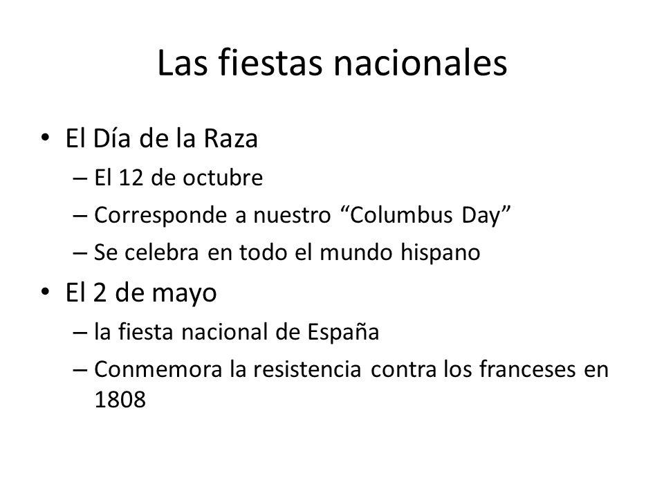 Las fiestas nacionales