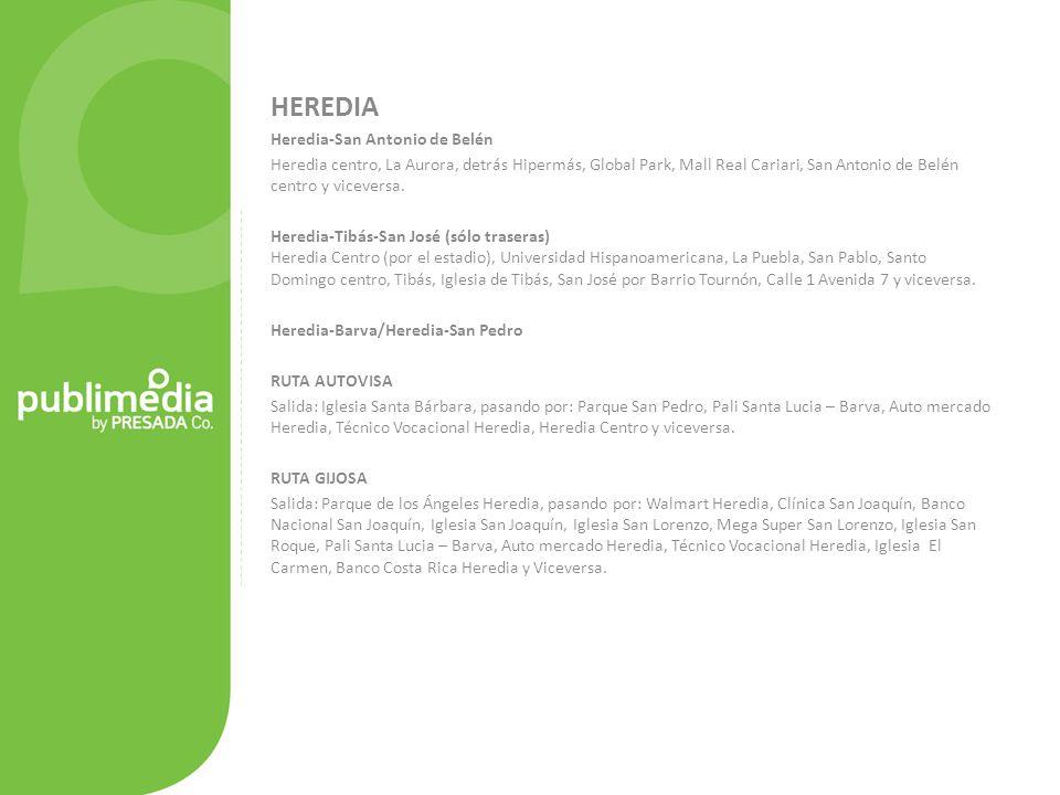 HEREDIA Heredia-San Antonio de Belén