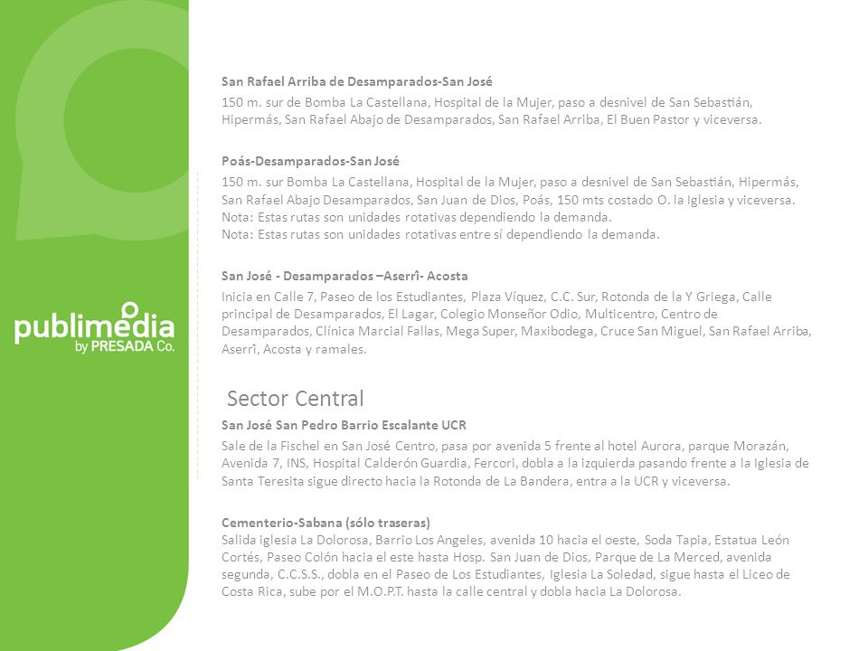 Sector Central San Rafael Arriba de Desamparados-San José