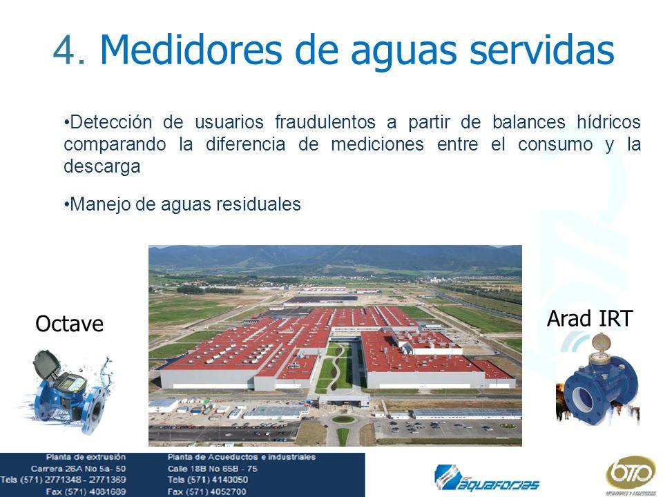 4. Medidores de aguas servidas
