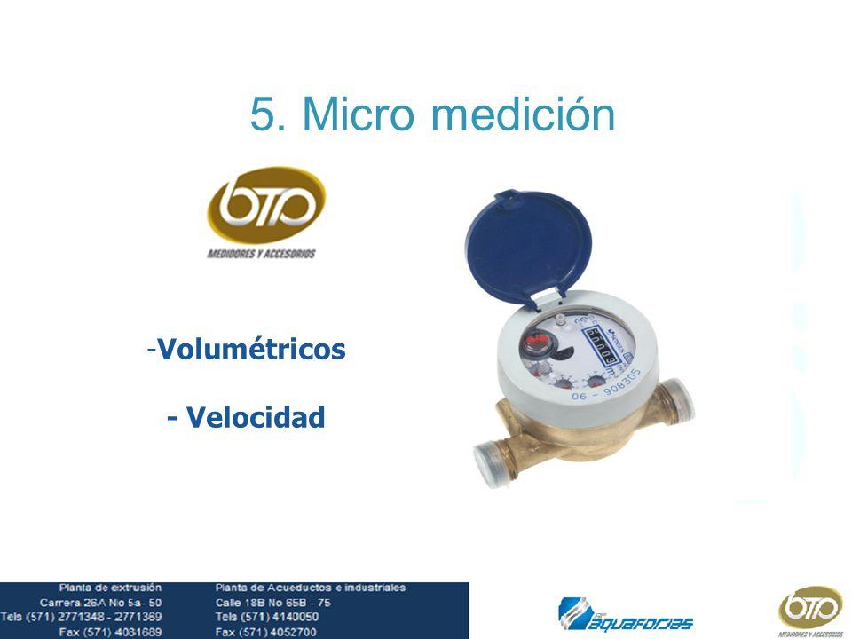 5. Micro medición Volumétricos - Velocidad