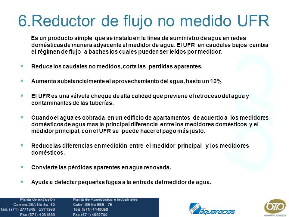 6.Reductor de flujo no medido UFR